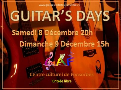 AFFICHE GUITAR'S DAY